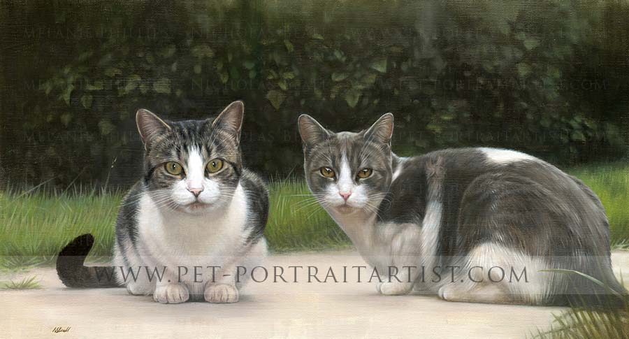 Cat Portraits in Oil by Nicholas Beall
