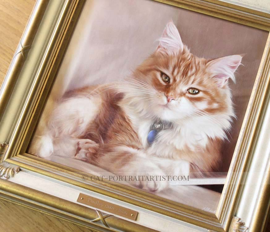 Cat Painting Oils Framed